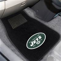 "NFL - New York Jets 2-pc Embroidered Car Mat Set 17""x25.5"""