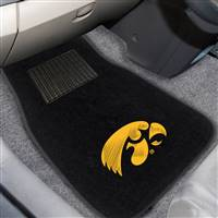 "University of Iowa 2-pc Embroidered Car Mat Set 17""x25.5"""