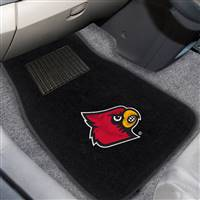 "University of Louisville 2-pc Embroidered Car Mat Set 17""x25.5"""