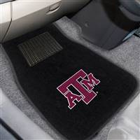 "Texas A&M University 2-pc Embroidered Car Mat Set 17""x25.5"""