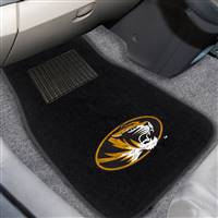 "University of Missouri 2-pc Embroidered Car Mat Set 17""x25.5"""