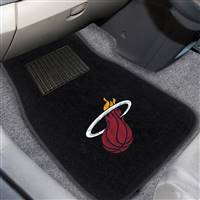 "NBA - Miami Heat 2-pc Embroidered Car Mat Set 17""x25.5"""