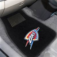 "NBA - Oklahoma City Thunder 2-pc Embroidered Car Mat Set 17""x25.5"""
