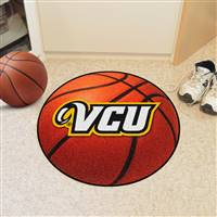 "Virginia Commonwealth University Basketball Mat 27"" diameter"