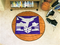 "NYU New York University Basketball Rug 29"" diameter"