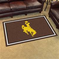 "University of Wyoming 4x6 Rug 44""x71"""