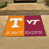 "House Divided - Tennessee / Virginia Tech House Divided Mat 33.75""x42.5"""