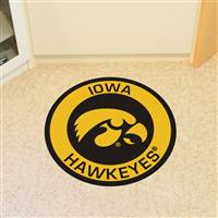"University of Iowa Roundel Mat 27"" diameter"