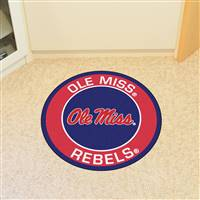 "University of Mississippi (Ole Miss) Roundel Mat 27"" diameter"
