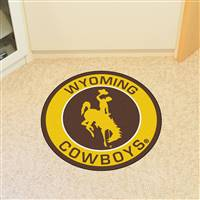 "University of Wyoming Roundel Mat 27"" diameter"