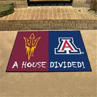 "House Divided - Arizona State / Arizona House Divided Mat 33.75""x42.5"""