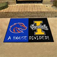 "House Divided - Boise State / Idaho House Divided Mat 33.75""x42.5"""