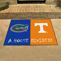"House Divided - Florida / Tennessee House Divided Mat 33.75""x42.5"""