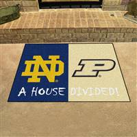 "House Divided - Notre Dame / Purdue House Divided Mat 33.75""x42.5"""