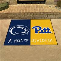 "House Divided - Penn State / Pittsburgh House Divided Mat 33.75""x42.5"""