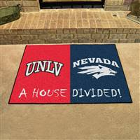 "House Divided - UNLV / Nevada House Divided Mat 33.75""x42.5"""