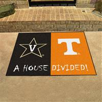 "House Divided - Vanderbilt / Tennessee House Divided Mat 33.75""x42.5"""