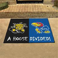 "House Divided - Wichita State / Kansas House Divided Mat 33.75""x42.5"""