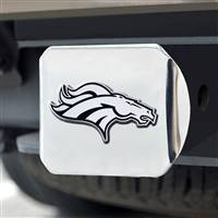 "NFL - Denver Broncos Chrome Hitch - Chrome3.4""x4"""