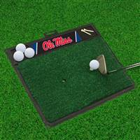 "University of Mississippi (Ole Miss) Golf Hitting Mat 20"" x 17"""