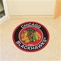 "NHL - Chicago Blackhawks Roundel Mat 27"" diameter"
