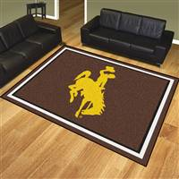 "University of Wyoming 8x10 Rug 87""x117"""