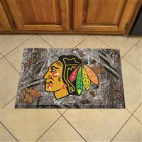 "NHL - Chicago Blackhawks Scraper Mat 19""x30"""