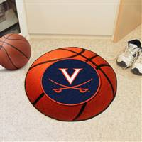 "Virginia Cavaliers Basketball Rug 29"" diameter"