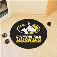 "Michigan Tech University Puck Mat 27"" diameter"