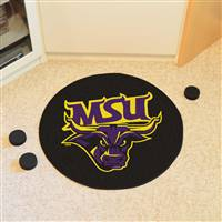 "Minnesota State University - Mankato Puck Mat 27"" diameter"