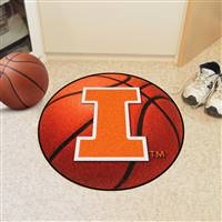 "Illinois Fighting Illini Basketball Rug 29"" Diameter"