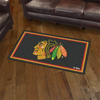 "NHL - Chicago Blackhawks 3x5 Rug 36""x 60"""