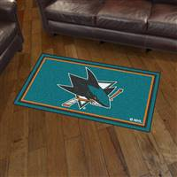 "NHL - San Jose Sharks 3x5 Rug 36""x 60"""