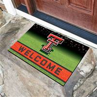 "Texas Tech University Crumb Rubber Door Mat 18""x30"""