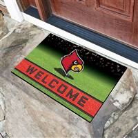 "University of Louisville Crumb Rubber Door Mat 18""x30"""