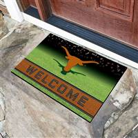 "University of Texas Crumb Rubber Door Mat 18""x30"""