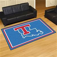 "Louisiana Tech University 5x8 Rug 59.5""x88"""