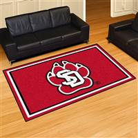 "University of South Dakota 5x8 Rug 59.5""x88"""