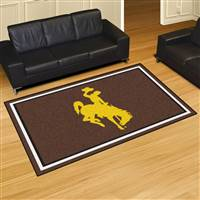 "University of Wyoming 5x8 Rug 59.5""x88"""