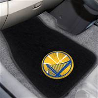 "NBA - Golden State Warriors 2-pc Embroidered Car Mat Set 17""x25.5"""