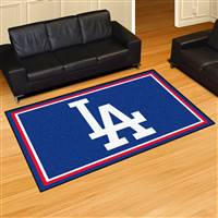 "Los Angeles Dodgers 5x8 Rug 59.5""x88"""