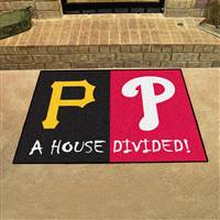 "MLB House Divided - Pirates / Phillies House Divided Mat 33.75""x42.5"""
