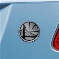 "NBA - Golden State Warriors Chrome Emblem 2.7""x3.2"""