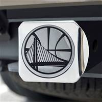"NBA - Golden State Warriors Hitch Cover - Chrome on Chrome 3.4""x4"""