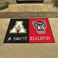 "House Divided - NC State / Appalachian State House Divided Mat 33.75""x42.5"""