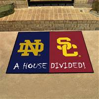 "House Divided - Notre Dame / Southern Cal House Divided Mat 33.75""x42.5"""