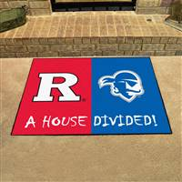 "House Divided - Rutgers / Seton Hall House Divided Mat 33.75""x42.5"""
