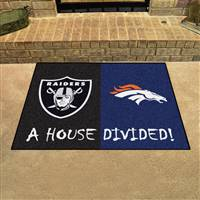 "NFL House Divided - Broncos / Raiders House Divided Mat 33.75""x42.5"""