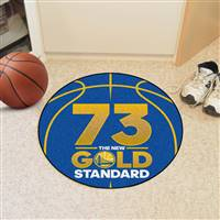 "NBA - Golden State Warriors - 73 Basketball Mat 27"" diameter"