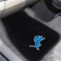"NFL - Detroit Lions 2-pc Embroidered Car Mat Set 17""x25.5"""